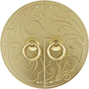Simple Clouds Pattern Gate Knockers,Deluxe Wall Decor Renovator's Supply Round Door Knocker, Casting Brass Knocking Ring,for Cupboard Bookcase Furniture, Easy To Install Artisan Made Home Decor Access