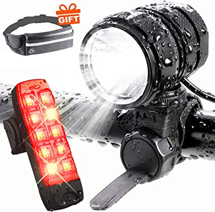 Cycle Torch USB Rechargeable Bicycle Light Safety Bike LED Headlight Tail Lamp