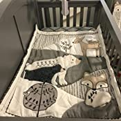 Amazon Com Levtex Baby Bailey Charcoal And White