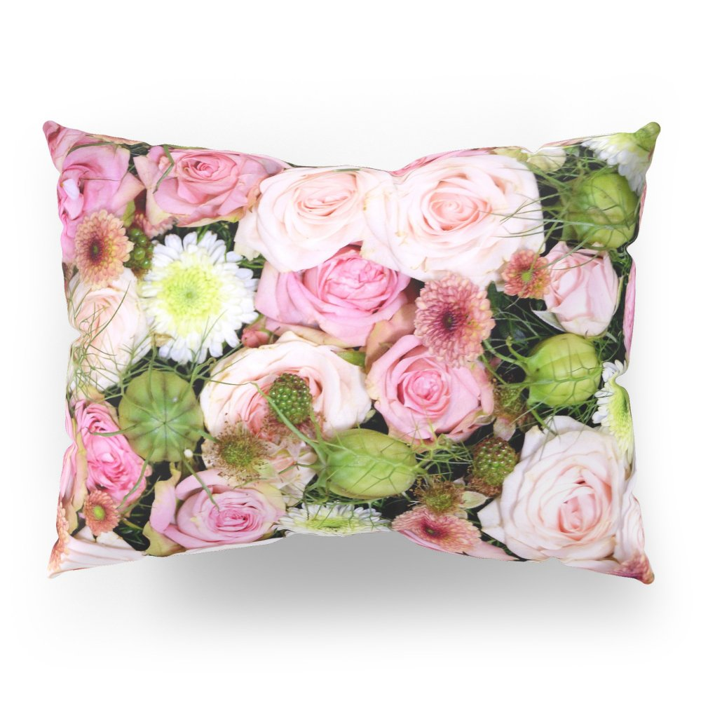 Society6 Bed Of Roses Pink White Pillow Sham Standard (20'' x 26'') Set of 2