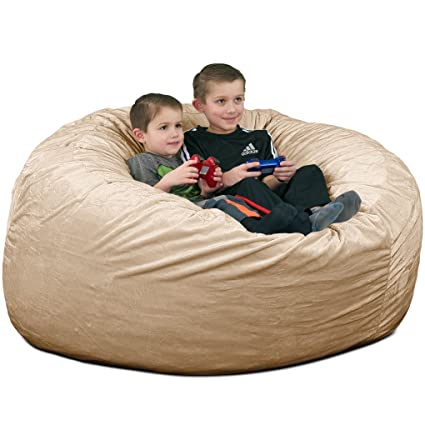 Gentil Ultimate Sack 4000 Bean Bag Chair: Giant Foam Filled Furniture   Machine  Washable Covers