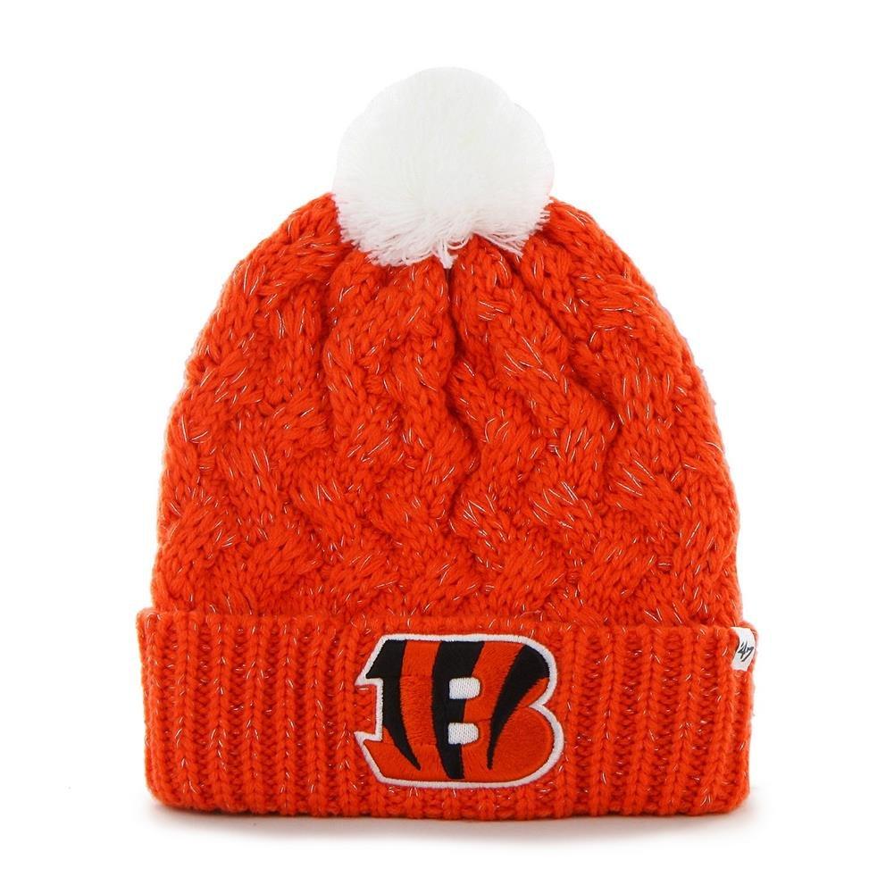 dea4cb7f '47 Brand Women's Fiona Beanie Hat with POM POM - NFL Ladies Cuffed Crochet  Knit Toque Cap