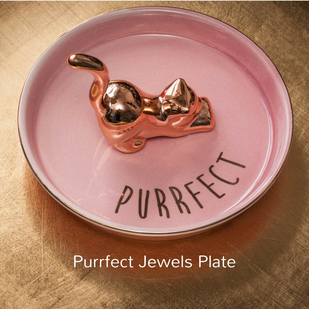 Amazon.com: Pink Kitty Cat Jewelry Holder for Women and Girls ...