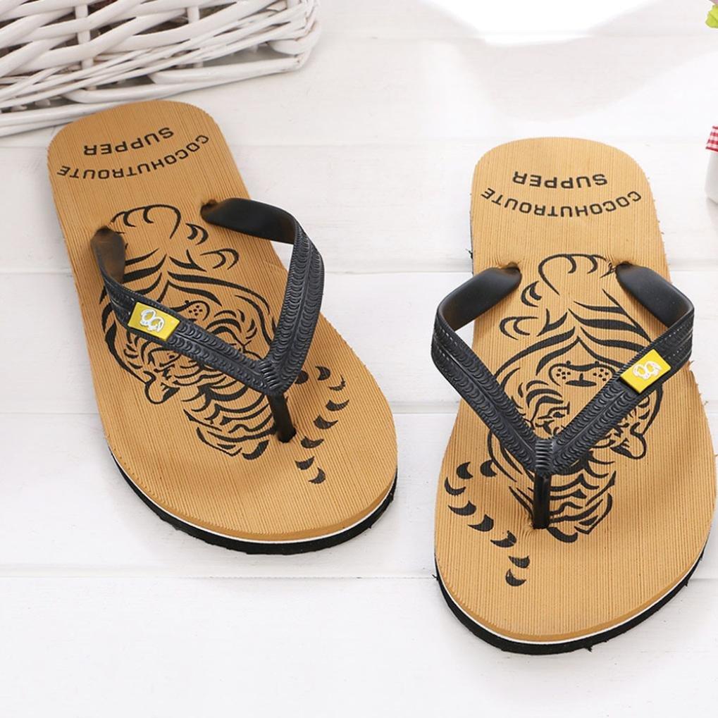 Flip Flops Herren,sonnena Männer Sommerschuhe Sandalen männlich Pantoffel Indoor oder Outdoor Flip Flops EVA/Schaum/Beach/Flip Flops (44, Gut Schwarz)