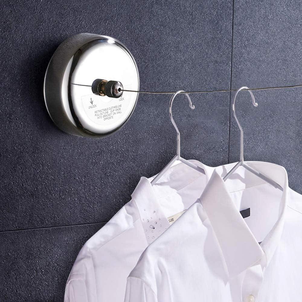 da parete 2,8 m Stendibiancheria retrattile da bagno in acciaio inox bgl per hotel