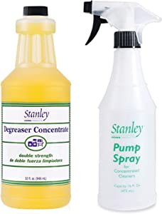 Stanley Home Products Degreaser Concentrate PLUS Easy-To-Use Spray Bottle – Removes Stubborn Grease & Grime - Multipurpose Cleaner for Home & Commercial Use