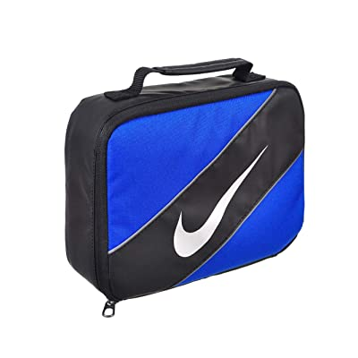 Nike Contrast Insulated Reflective Game Royal Tote Lunch Bag , Blue and Black , One Size: Kitchen & Dining