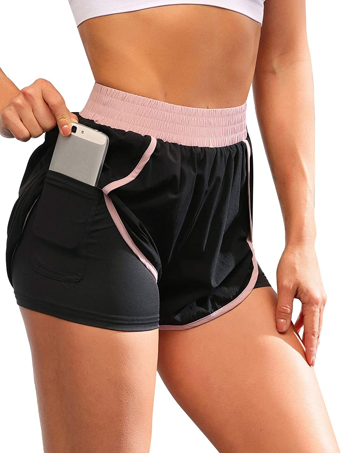 42% Off Coupon +  Clipping – Women's Elastic Running Shorts
