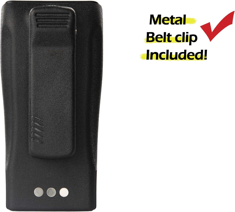 4 Pack ArrowMax AMCL4970-1800-D NNTN4970 Replacement Li-ion 1800mAh Slim Battery for Motorola CP200 CP200XLS CP200D