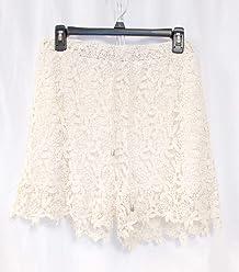 7c720fbaf40290 American Rag Womens Ivory Crocheted Lace Shorts L NWT