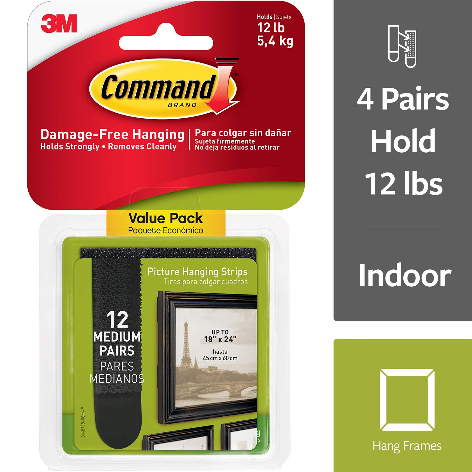 Command Medium Picture Frame Hangers Decorate Damage Free Easy On