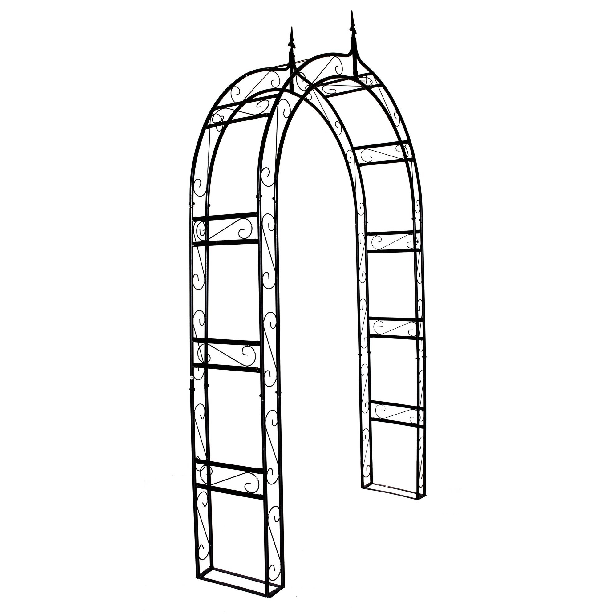 1.Go Steel Garden Arch, 7'10 High x 4'7 Wide, Garden Arbor for Various Climbing Plant, Outdoor Garden Lawn Backyard
