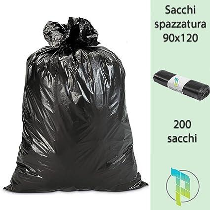 Palucart® Basura Bolsas Negros Grandes y Resistentes cm 90 x ...