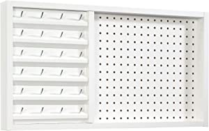 """Sauder Craft Pro Series Wall Mounted Pegboard with Thread Storage, L: 27.95"""" x W: 2.52"""" x H: 15.28"""", White"""