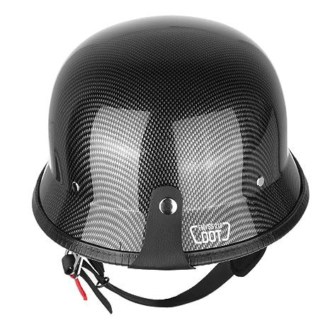 Amazon Com Iglobalbuy Half Helmet Dot Carbon Fiber German Style