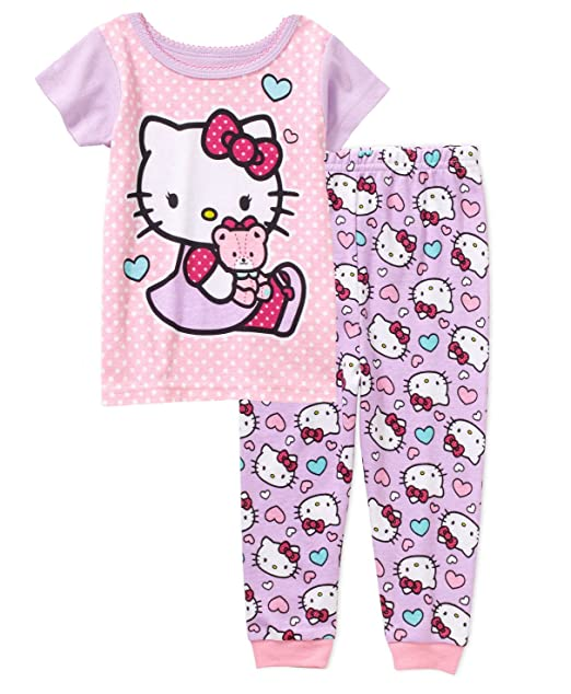 211a0510e Image Unavailable. Image not available for. Color: Hello Kitty Baby Girls 2  Piece Shirt & Pants Pajama Set ...