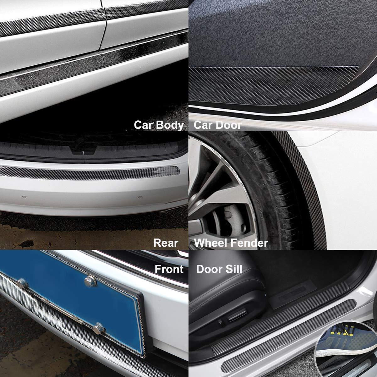 STYLINGCAR Auto Einstiegsleisten Universal Spoiler Kantenschutz Gummi Rot 5CMx3M