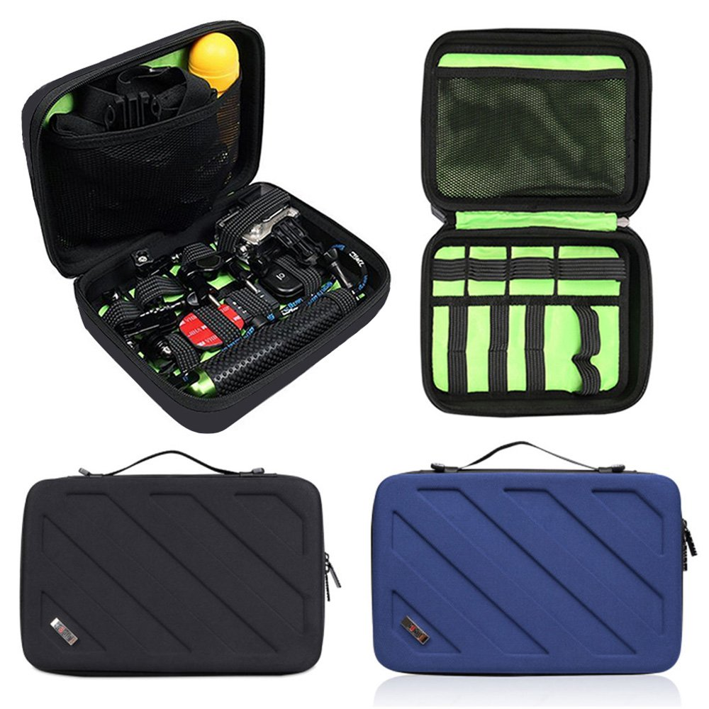 Travel Gopro Bag Action Camera Case for Carrying Gopro Hero 6, 5, 4 and AKASO EK5000 V5 4K WIFI Action Camera Accessories Bag Organize(Black)