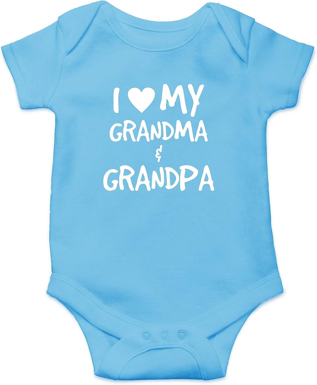 CBTwear I Love My Grandma & Grandpa - Spoiled By The Grandfathers - Cute Infant One-Piece Baby Bodysuit