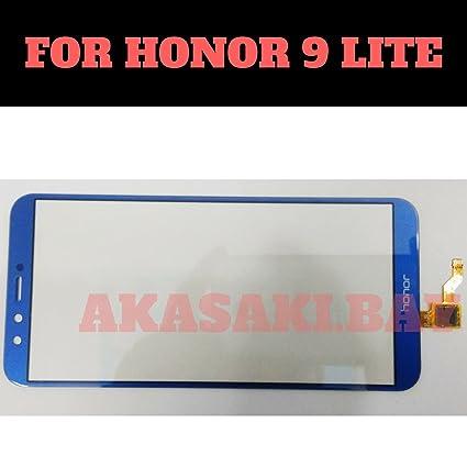(HUKATO) Touch Screen Digitizer Glass for Huawei Honor 9 Lite -Blue