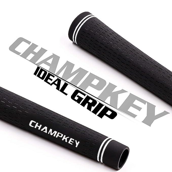 champkey Classic corssline Juego de agarre de Golf de 13, 4 tipo de mango de palos de tamaño disponible (mujeres y hombres), suave material Super ...