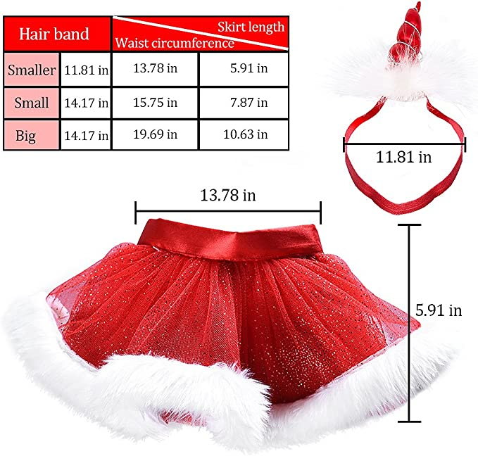 MMTX Navidad pequeña niña de Vestido Rojo Esponja de Tul mullida ...