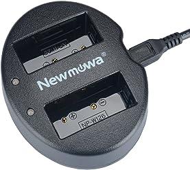 Newmowa NP-W126 対応 USB充電器 デュアルチャネル バッテリーチャージャー 互換急速充電器 Fujifilm NP-W126 NP-W126S Fujifilm X-H1 Fujifilm FinePix X-Pro1 X-Pro2 HS30EXR HS33EXR HS35EXR HS50EXR X-A1 X-A2 X-E1 X-E2 X-M1 X-T1 X-T2 X-T10 X-T100 など対応