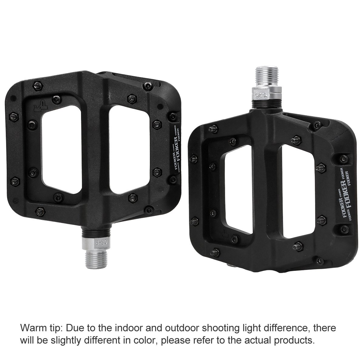 FOOKER MTB Bike Pedal Nylon 3 Bearing Composite 9//16 Mountain Bike Pedals High-Strength Non-Slip Bicycle Pedals Surface for Road BMX MTB Fixie Bikesflat Bike