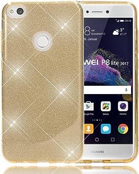 NALIA Purpurina Funda Compatible con Huawei P8 Lite 2017, Carcasa ...