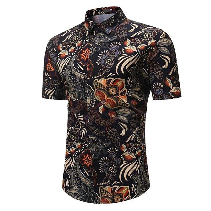 ef8ff56875840 Camisetas Slim Hombre con Estampado De ÉTnica LHWY