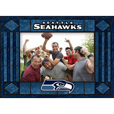 Amazon.com : Seattle Seahawks Art Glass Horizontal Frame : Home ...