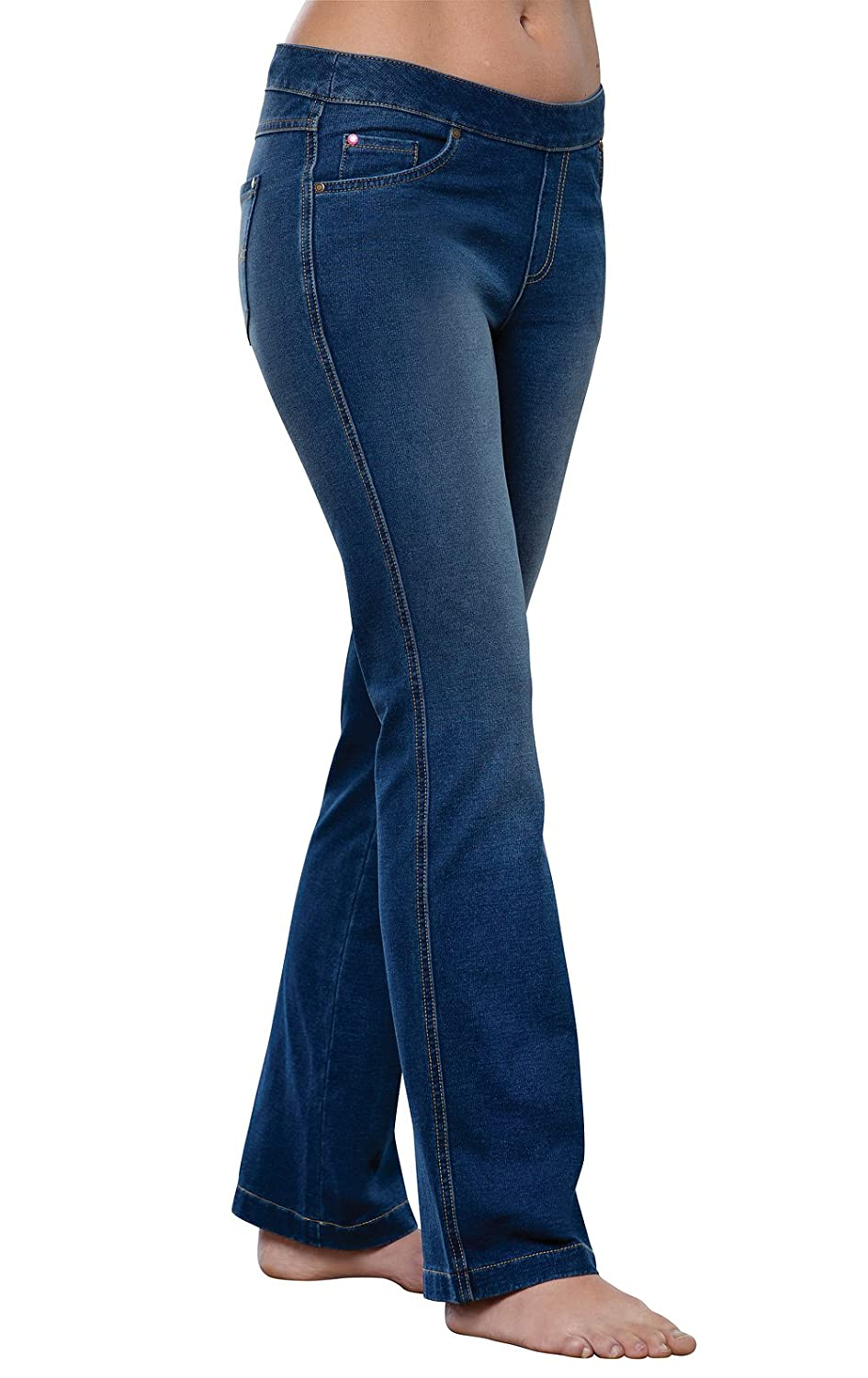 blueestone Wash PajamaJeans Women's Bootcut Stretch Knit Denim Jeans