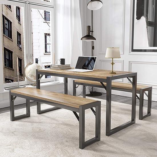 Allewie 3 Piece Modern Computer Desk