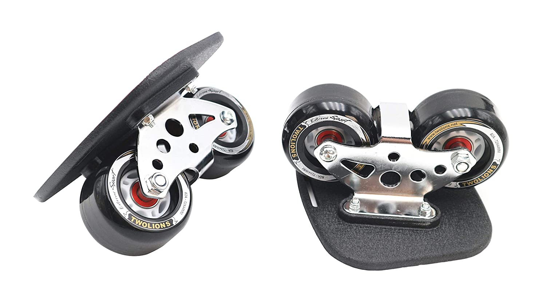 Roller Road Drift Skates Plate Pro Skates Anti-Slip Board Portable Split Skateboard Aluminum Alloy with PU Wheels Smartuan