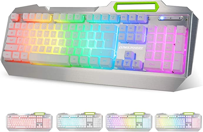 Keyboard K70 VELSENX 87 Key Mechanical Wired Game Keyboard with Blue Button Anti-ghosting RGB LED Backlight Modes Waterproof
