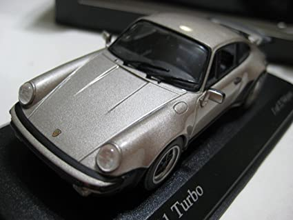 Minichamps Pauls Model Art Metallic Grey Porsche 911 Turbo 77 Diecast 1:43 NIB