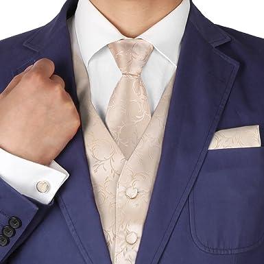Y&G yga1b01 novio patrón para hombre chaleco corbata Bowtie ...