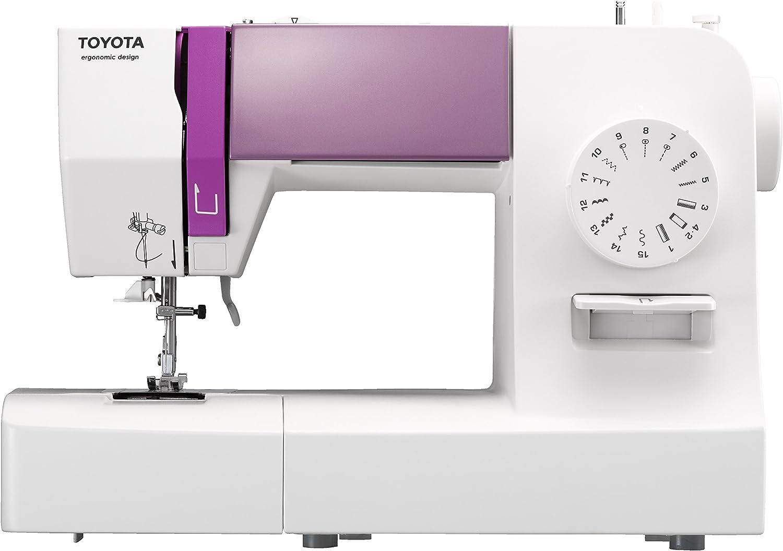 TOYOTA máquina de Coser (Brazo Libre, plástico, Blanco/Rosa, 19,2 ...
