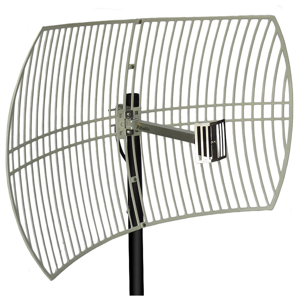 Altelix 2.4GHz 24dBi Directional Grid Parabolic Antenna N Female Connector Weather Resistant (2.4 GHz Point to Point) by Altelix (Image #1)