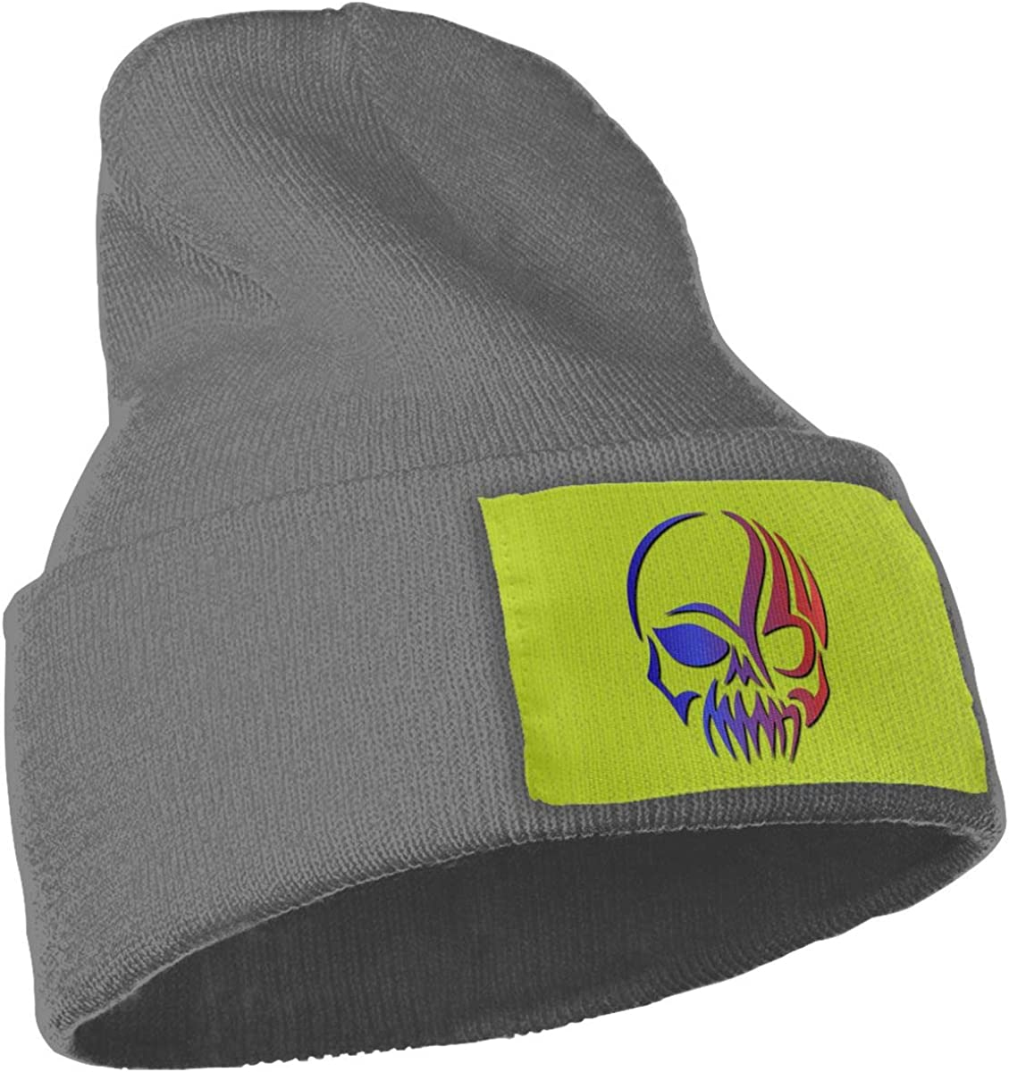 Poii Qon Blue Skull Beanies Hat Wool Knit Caps for Woman Man
