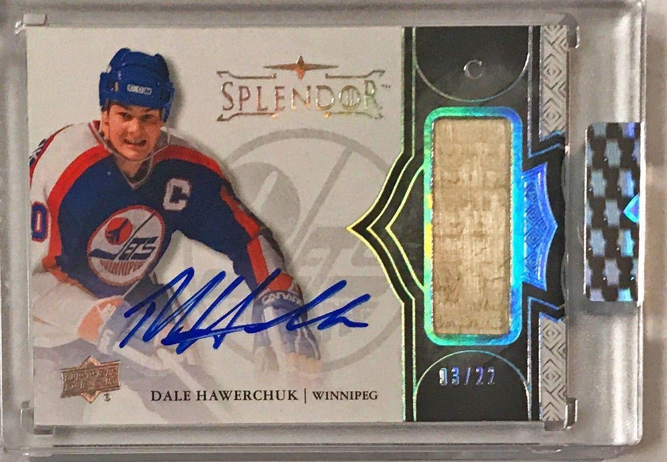 2017 18 Splendor Dale Hawerchuk Signed Auto Stick Card #'d 03/22 Upper Deck Certified Autographed NHL Sticks