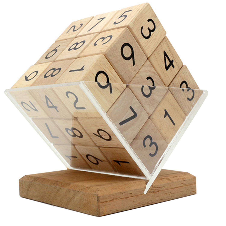 AIBAB Rompecabezas para niños Juguetes de descompresión Sudoku Cubo de Rubik Madera Diversión Regalo de la Escuela Puzzle Cerebro Cerebro Juego Individual
