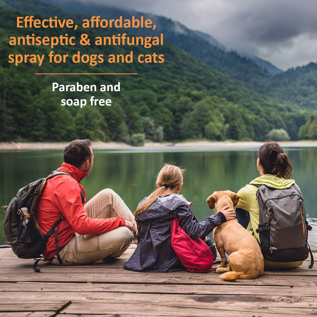 Veterinary Clinical Care Antiseptic and Antifungal Spray for Dogs and Cats – Medicated Topical Spray Treatment for Fungal and Bacterial Skin Infections in Dogs and Cats, Fast Acting, (8 oz Bottle)