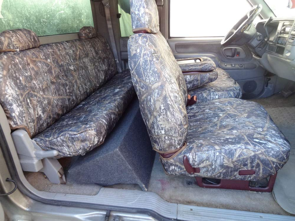 Durafit Seat Covers 1995-2000 Chevy Silverado, and GMC Sierra Truck Xcab Front/Rear Seat Covers for 60/40 Split Seat with Opening Center Console. Conceal Camo Endura C976-CL-C