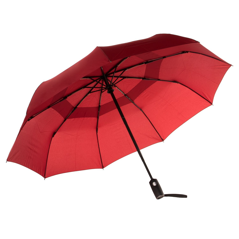 Home Treats Windproof Travel UmbrellaDupont Teflon Auto Open Reinforced Double Canopy, One Handed Operation Hand Luggage, 29 cm, Black KA453