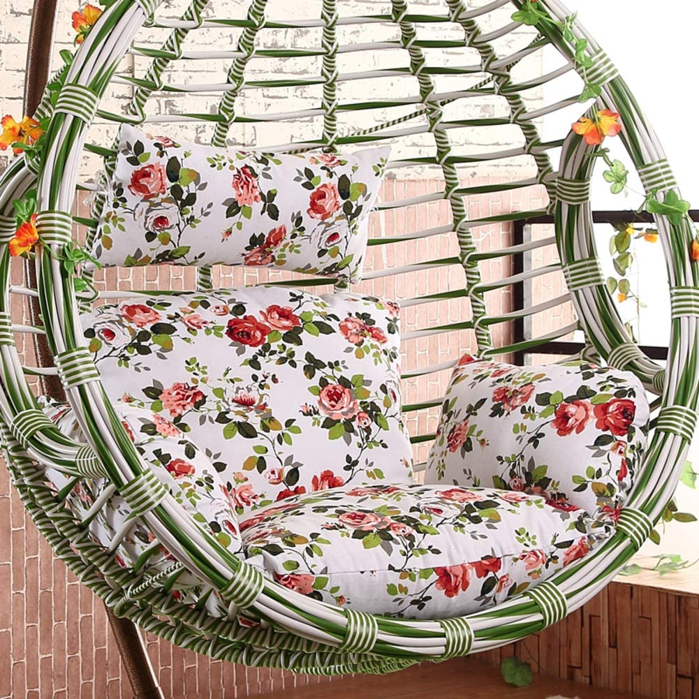 JRG Fashion Wicker Chair Cushion Hanging Chair Seat Sofa Comfortable Cushioning Trapezoid Cushion Chair Cushion Filled with PP Cotton Removable -F
