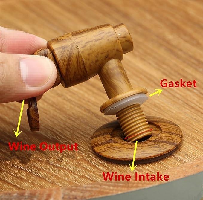 Barriles de roble envejecimiento, dispensador de barril de whisky de 1,5 l, para vino, licores, cerveza y licor, color marrón (con chips de roble ...