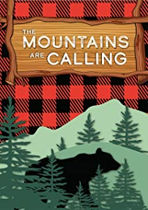 "Briarwood Lane The Mountains are Calling Summer Garden Flag Bear 12.5"" x 18"""