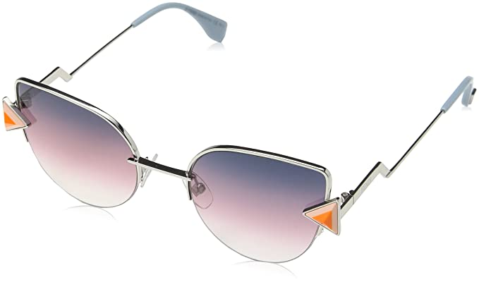 8429174228d4 Image Unavailable. Image not available for. Color  Fendi Women FF 0242 S 52  Gold Grey Sunglasses 52mm