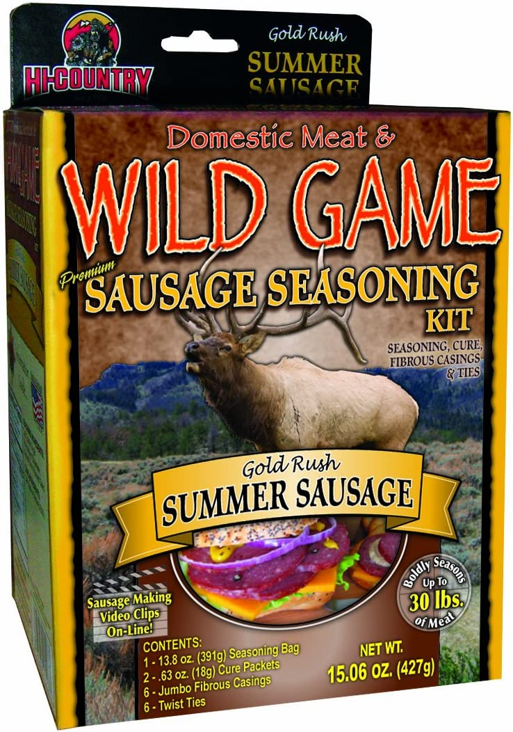 B00474HU8K Hi-Country Snack Foods Domestic Meat and Wild Game 21.26 oz. Summer Sausage Home Made Sandwich and Snack Style Sausage Spice Kits 71e1Gby0zML